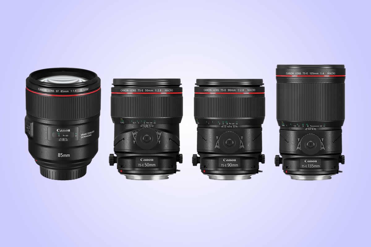 Canon uvádí vřadě L jeden portrétní a 3 tilt-shiftové makro objektivy