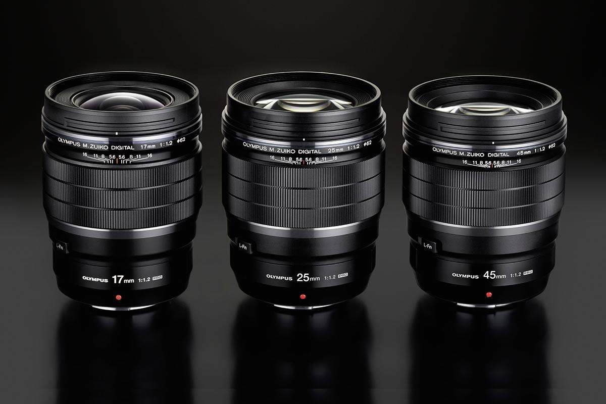 Olympus má supersvětelné objektivy 17 a 45 mm vřadě PRO