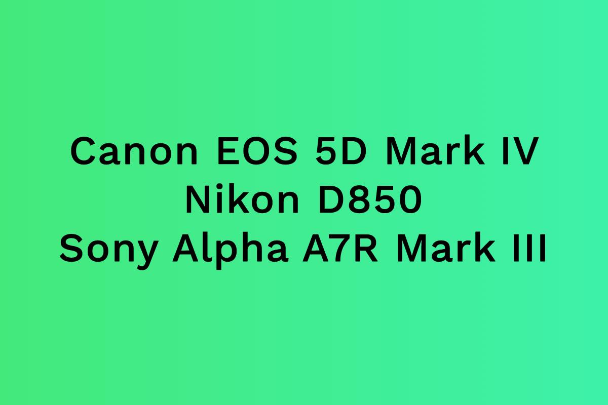 Canon – Nikon – Sony. Který byste brali vy?