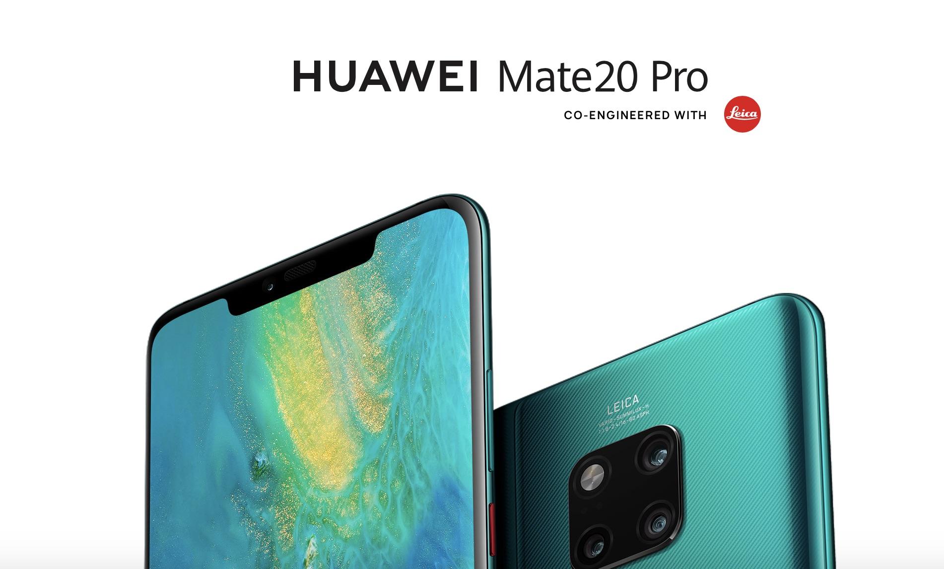 Huawei Mate 20 Pro má tři objektivy