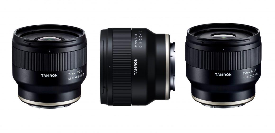 Tři nová pevná skla Tamron pro fotoaparáty SONY-E